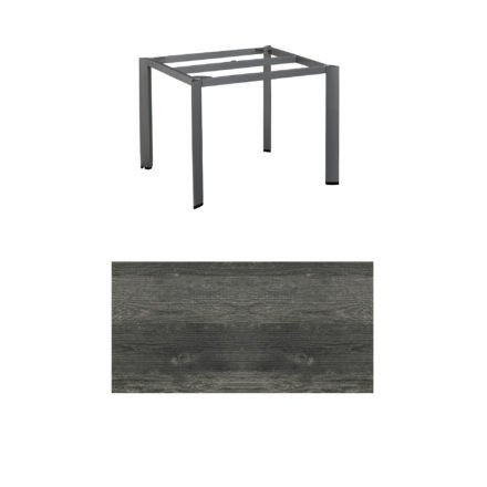 """Kettler Tischgestell 95x95cm """"Edge"""", Aluminium anthrazit, mit Tischplatte HPL pinie-anthrazit"""