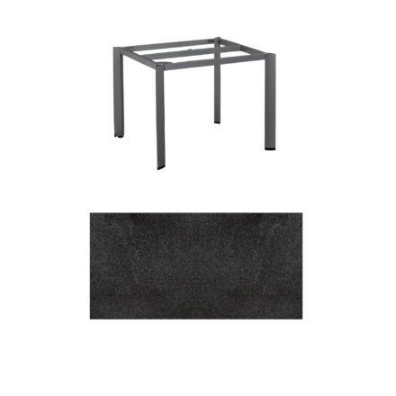 """Kettler Tischgestell 95x95cm """"Edge"""", Alu anthrazit, mit Tischplatte HPL Stahl"""