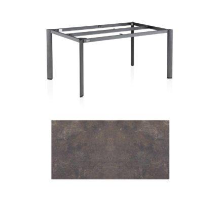 "Kettler Tischgestell 160x95cm ""Edge"", Aluminium eisengrau, mit Tischplatte HPL mocca"