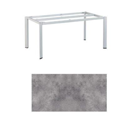"Kettler Tischgestell 160x95cm ""Edge"", Aluminium silber, mit Tischplatte HPL anthrazit"