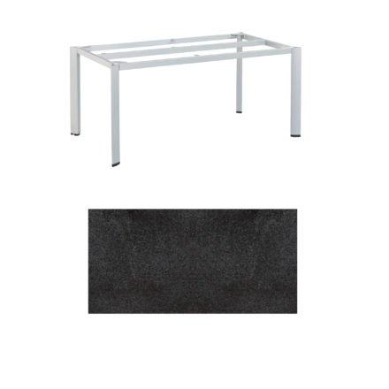 """Kettler Tischgestell 160x95cm """"Edge"""", Alu silber, mit Tischplatte HPL Stahl"""