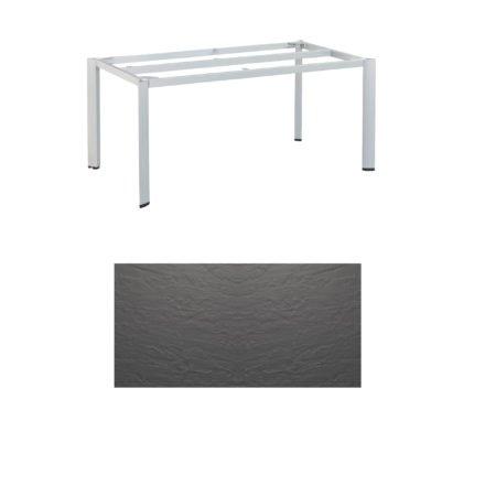 """Kettler Tischgestell 160x95cm """"Edge"""", Aluminium silber, mit Tischplatte Kettalux anthrazit"""