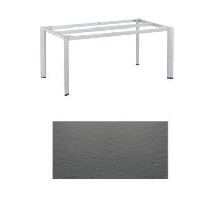 """Kettler Tischgestell 160x95cm """"Edge"""", Aluminium silber, mit Tischplatte Kettalux anthrazit-grau"""