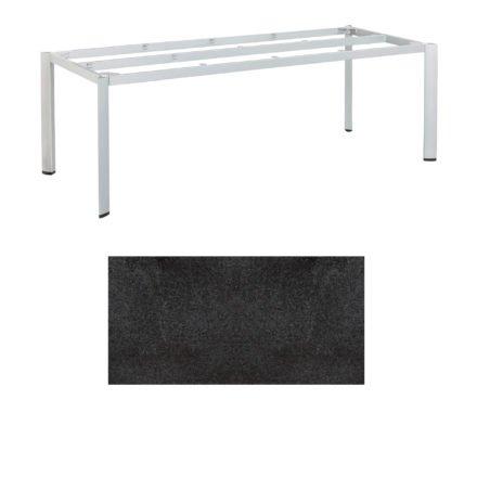 """Kettler Tischgestell 220x95cm """"Edge"""", Alu silber, mit Tischplatte HPL Stahl"""