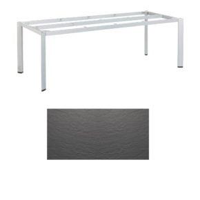 """Kettler Tischgestell 220x95cm """"Edge"""", Aluminium silber, mit Tischplatte Kettalux anthrazit"""