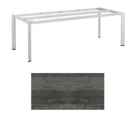 """Kettler Tischgestell 220x95cm """"Edge"""", Aluminium silber, mit Tischplatte HPL pinie-anthrazit"""