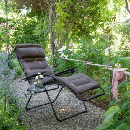"Lafuma Relaxsessel ""Futura XL AirComfort"", Textilfarbe taupe, Liegeposition"