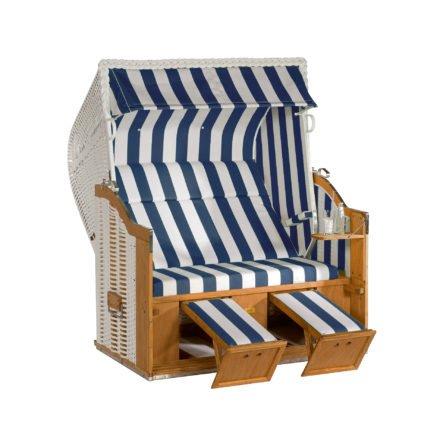 """SonnenPartner Strandkorb XL-2-Sitzer """"Classic"""", PVC-Kunststoffgeflecht weiß, Stoff Nr. 40"""