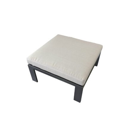 "Home Islands Loungehocker ""Miray"", Gestell Aluminum anthrazit (charcoal), Polster hellgrau"