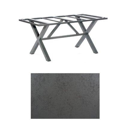 """SonnenPartner Tisch """"Base-Spectra"""", Gestell Alu anthrazit, Tischplatte HPL Struktura anthrazit, 160x90 cm"""