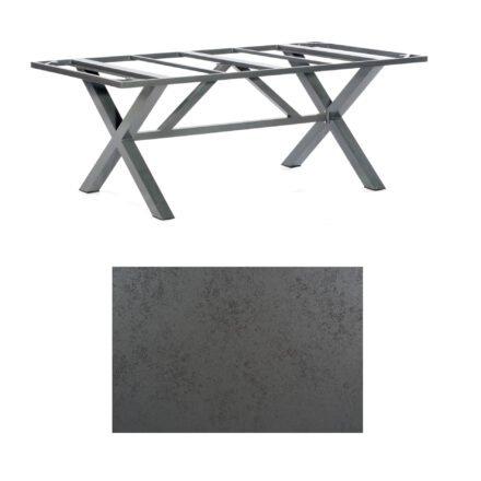 """SonnenPartner Tisch """"Base-Spectra"""", Gestell Alu anthrazit, Tischplatte HPL Struktura anthrazit, 200x100 cm"""