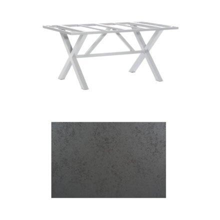 "SonnenPartner Tisch ""Base-Spectra"", Gestell Alu silber, Tischplatte HPL Struktura anthrazit, 160x90 cm"