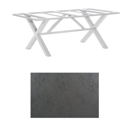 "SonnenPartner Tisch ""Base-Spectra"", Gestell Alu silber, Tischplatte HPL Struktura anthrazit, 200x100 cm"