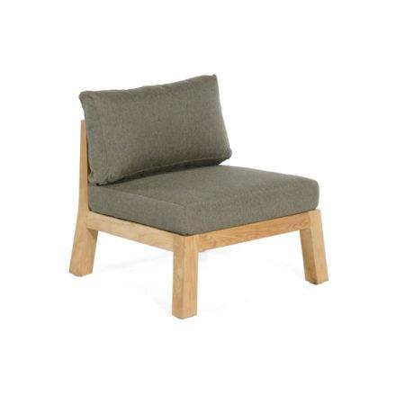 "Sonnenpartner ""Clifton"" Loungesessel, Teakholz, inkl. Sitz- und Rückenkissen aus Polypropylen"