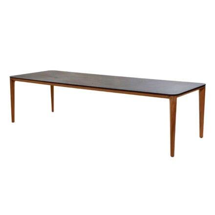 """Cane-line """"Aspect"""" Gartentisch, Gestell Teakholz, Tischplatte Keramik schwarz, 280x100 cm"""