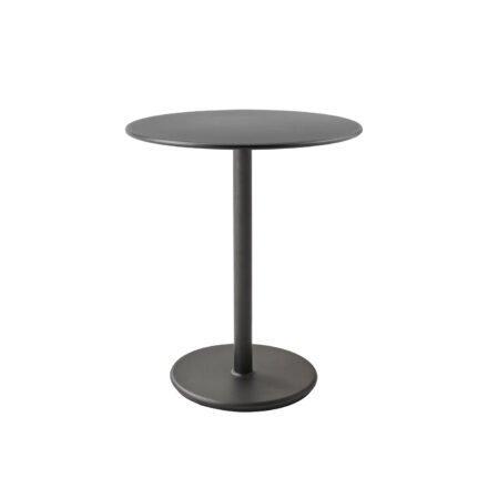 """Cane-line Bistrotisch """"Go"""", Gestell und Tischplatte Aluminium lavagrau, ø 60 cm"""