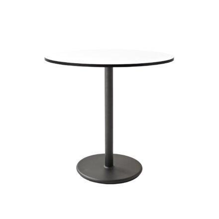 """Cane-line Bistrotisch """"Go"""", Gestell Aluminium lavagrau und Tischplatte HPL weiß"""