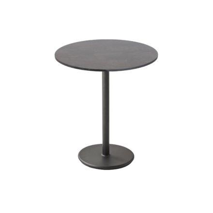 """Cane-line Bistrotisch """"Go"""", Gestell Aluminium lavagrau und Tischplatte HPL dunkelgrau, Ø 70 cm"""