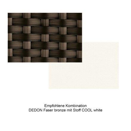 Kollektion BARCELONA - DEDON Faser bronze mit Stoff COOL white