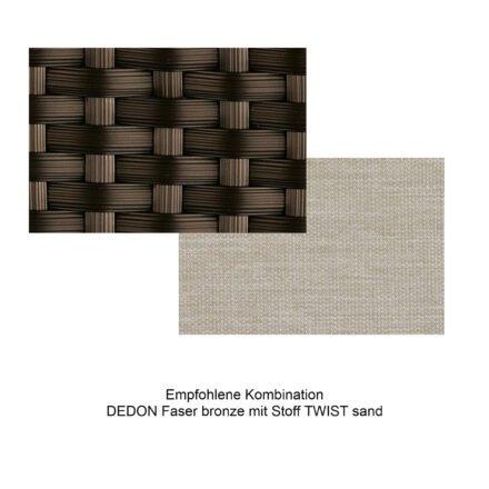Kollektion BARCELONA - DEDON Faser bronze mit Stoff TWIST sand