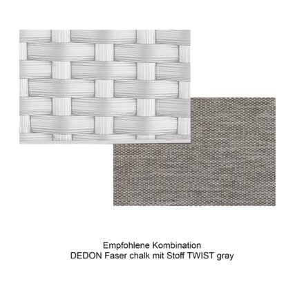 Kollektion BARCELONA - DEDON Faser chalk mit Stoff TWIST gray