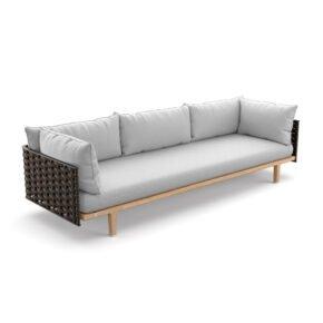 DEDON Loungesofa 3-sitzig SEALINE, DEDON Rope slate