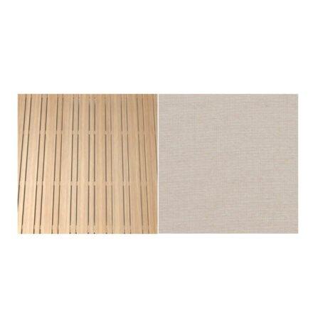 Fischer Möbel Teak - Stoff Sunbrella Natte weatherproof Linen Chalk 10151W