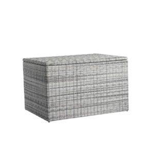 """Home Islands Kissenbox """"Kyoko"""", Gestell Aluminium, Geflecht Polyrattan Salt/Pepper, 127 cm breit"""