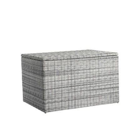 "Home Islands Kissenbox ""Kyoko"", Gestell Aluminium, Geflecht Polyrattan Salt/Pepper, 127 cm breit"