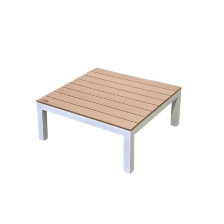 """Home Islands """"Laos"""" Loungetisch, Aluminium weiß, Tischplatte Polywood"""