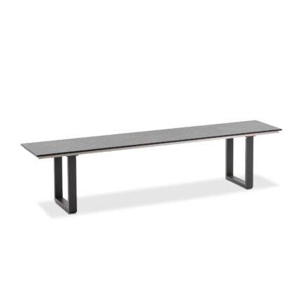 "Niehoff ""Nemo"" Gartenbank, Gestell Aluminium anthrazit, Sitzfläche HPL Granit-Design"