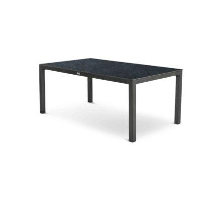 """Tierra Outdoor """"Briga"""" Gartentisch, Gestell Aluminium anthrazit, Tischplatte HPL graphit, 180x100 cm"""