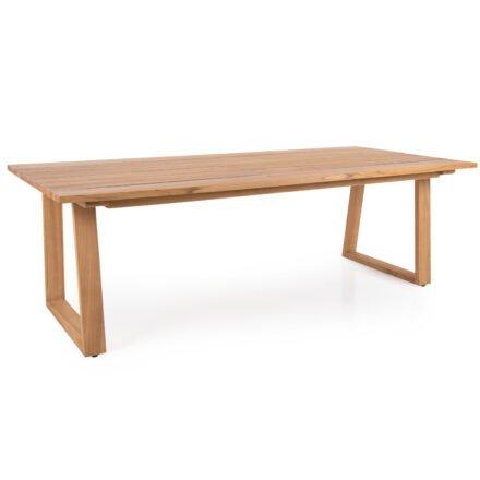 """Brafab """"Laurion"""" Gartentisch, Gestell und Tischplatte Teakholz, 230x100 cm"""