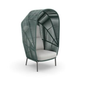 """DEDON """"RILLY"""" Cocoon Chair, Rope teal melange"""