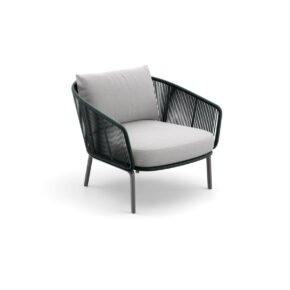 """DEDON Loungesessel """"RILLY"""", DEDON Faser teal touch"""