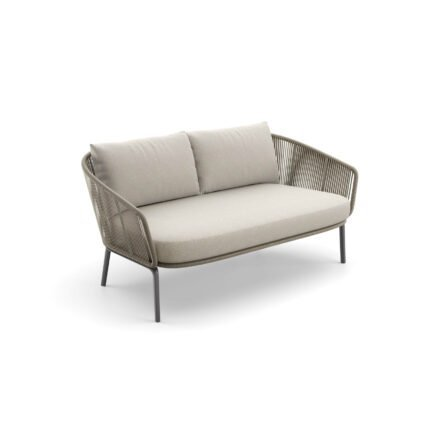 """DEDON Sofa 2-sitzig """"RILLY"""", DEDON Faser taupe touch"""