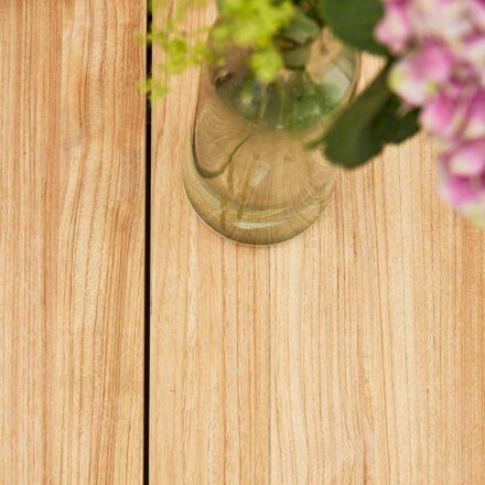 "Diamond Garden Gartentisch ""Lyon"", Tischplatte Teakholz recycelt, Fase, 4 Planken"