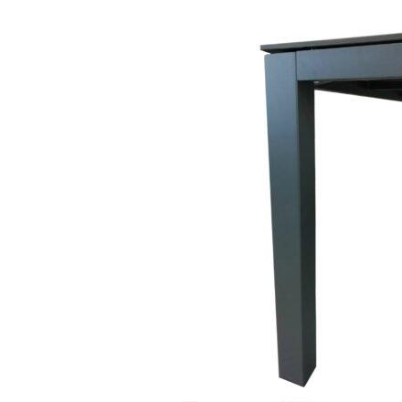 """Home Islands Gartentisch """"Dayann"""", Gestell Aluminium charcoal, Tischplatte HPL Dark grey"""