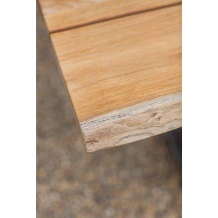 """Niehoff Gartentisch """"Solid"""", 220x95 cm, Edelstahl gebürstet, Tischplatte Teak gebürstet"""
