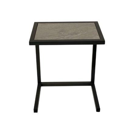 """Ploß Beistelltisch """"Skagen"""", Gestell Aluminium anthrazit, Tischplatte Keramik grau"""