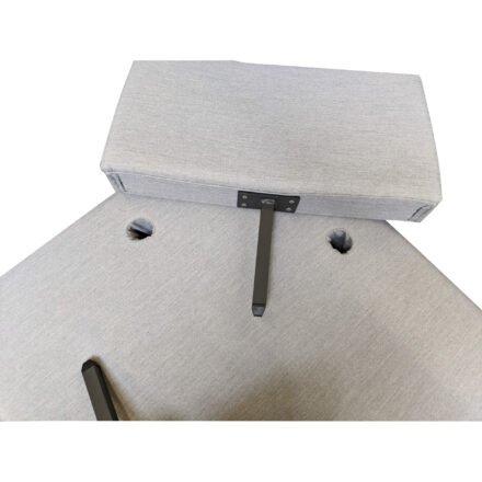 "Ploß ""Luxor"" Mulitfunktionssessel/Loungesessel, Gestell Aluminium anthrazit matt, Polster grauPloß ""Luxor"" Multifunktionssessel/Loungesessel, Gestell Aluminium anthrazit matt, Polster grau, Tischplatte HPL"