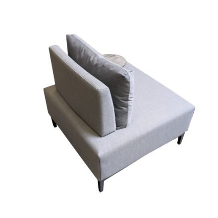 "Ploß ""Luxor"" Multifunktionssessel/Loungesessel, Gestell Aluminium anthrazit matt, Polster grau"