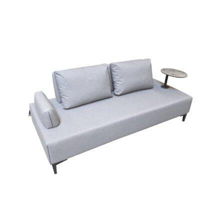 """Ploß """"Luxor"""" Multifunktionssofa/Loungesofa, Gestell Aluminium anthrazit matt, Polster grau, Tischplatte HPL"""