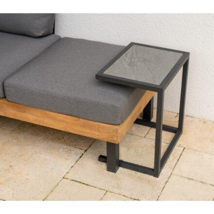 "Ploß Loungeserie ""Skagen"", Design-Sofa & Beistelltisch, Aluminium anthrazit, Tischplatte Keramik"