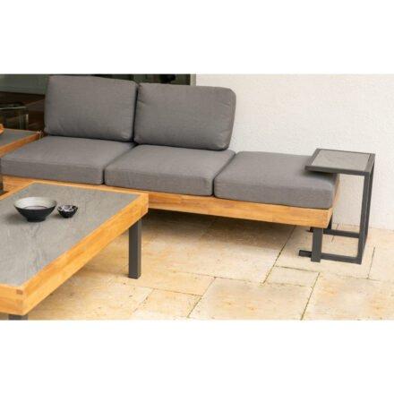 """Ploß Loungeserie """"Skagen"""", Design-Sofa, Couchtisch & Beistelltisch, Aluminium anthrazit, Tischplatten Keramik"""