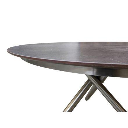 """Ploß """"Carlos"""" Gartentisch, Gestell Edelstahl gebrushed, Tischplatte HPL anthrazit marmoriert mit """"Schweizer Kante"""""""