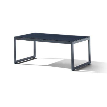 """Sieger """"Havanna"""" Loungetisch 110x44x60 cm, Alu eisengrau, Glasplatte Spraystone eisengrau"""