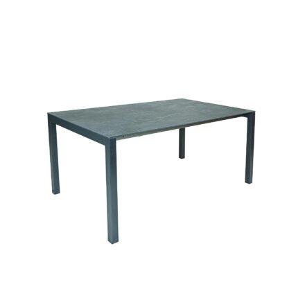 "SIT Mobilia ""Etna"" Ausziehtisch, Gestell Aluminium eisengrau, Tischplatte Dekton Laos"