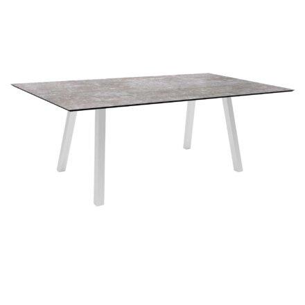 """Stern Gartentisch """"Interno"""", Größe 180x100cm, Edelstahl, HPL Metallic grau"""