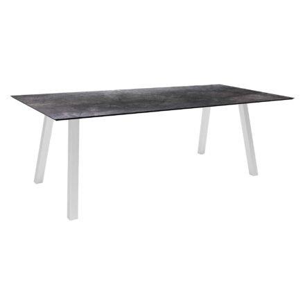 """Stern Gartentisch """"Interno"""", Größe 220x100cm, Edelstahl, HPL Dark marble"""
